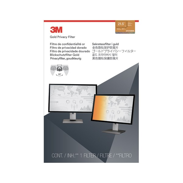 MMM Filtre de confidentialité Or pour PC fixe de 21,5