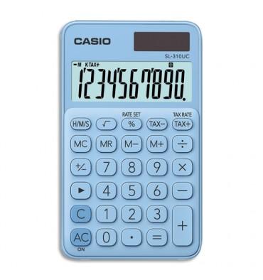 CASIO Calculatrice de poche à 10 chiffres SL-310UC-LB-S-EC, coloris bleu clair