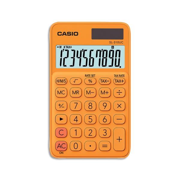 CASIO Calculatrice de poche à 10 chiffres SL-310UC-RG-S-EC, coloris orange