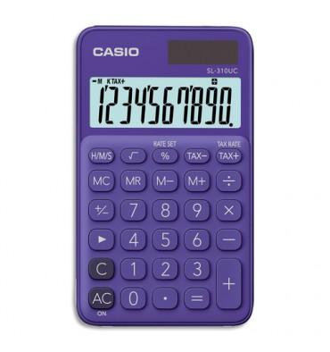 CASIO Calculatrice de poche à 10 chiffres SL-310UC-PL-S-EC, coloris violet