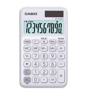 CASIO Calculatrice de poche à 10 chiffres SL-310UC-WE-S-EC, coloris blanc