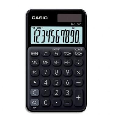 CASIO Calculatrice de poche à 10 chiffres SL-310UC-BK-S-EC, coloris noir