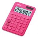 CASIO Calculatrice de bureau à 12 chiffres MS-20UC-RD-S-EC, coloris rose