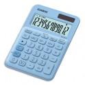 CASIO Calculatrice de bureau à 12 chiffres MS-20UC-LB-S-EC, coloris bleu clair