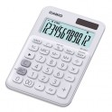 CASIO Calculatrice de bureau à 12 chiffres MS-20UC-WE-S-EC, coloris blanc