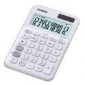 CASIO Calculatrice de bureau à 12 chiffres MS-20UC-WE-S-EC, coloris blanc