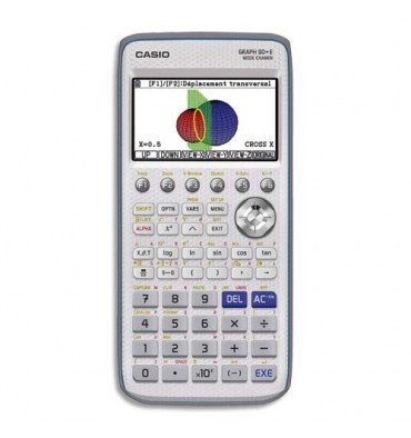 CASIO Calculatrice Graphique GRAPH90+E, coloris gris