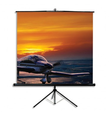 ORAY Ecran de projection portable sur trépied de format 175 x 175 cm