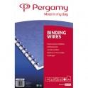 PERGAMY Boîte de 100 peignes anneaux métalliques 9,5 mm Blanc