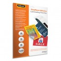 FELLOWES Pack de 25 pochettes de plastification A4 2x 80 microns adhésives repositionnables
