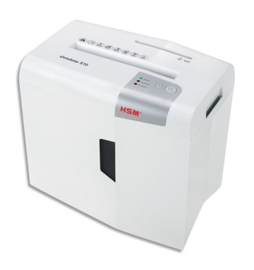 HSM Destructeur de document Shredstar S10 P-2, coupe droite bandes 6mm, corbeille 18L 1042121