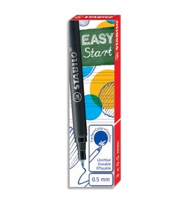 STABILO Boîte de 3 recharges pour roller Easy original bleu 0,5 6890/041