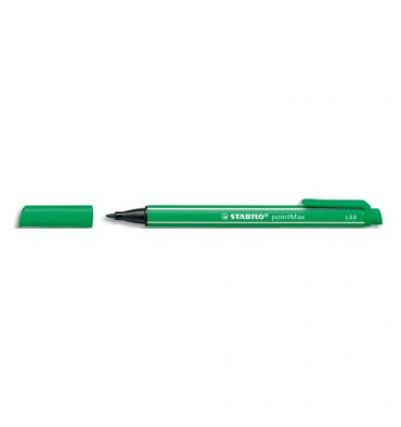 STABILO Stylo feutre pointe multi-fonction encre vert corps coloré et rayure blanche pointMAX