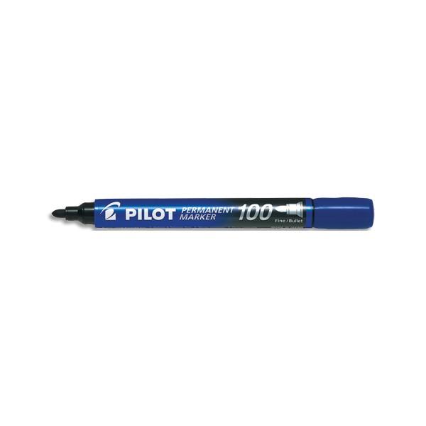 PILOT Marqueur permanent MARKER 100 pointe conique fine encre bleue