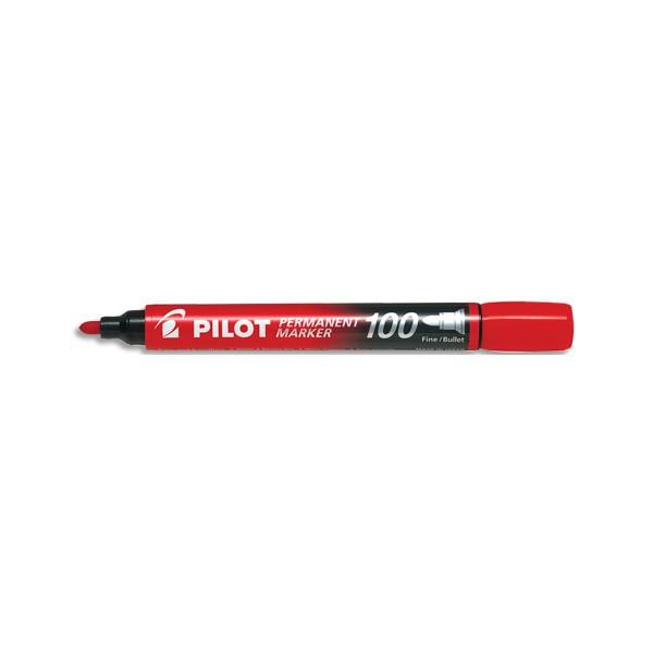 PILOT Marqueur permanent MARKER 100 pointe conique fine encre rouge