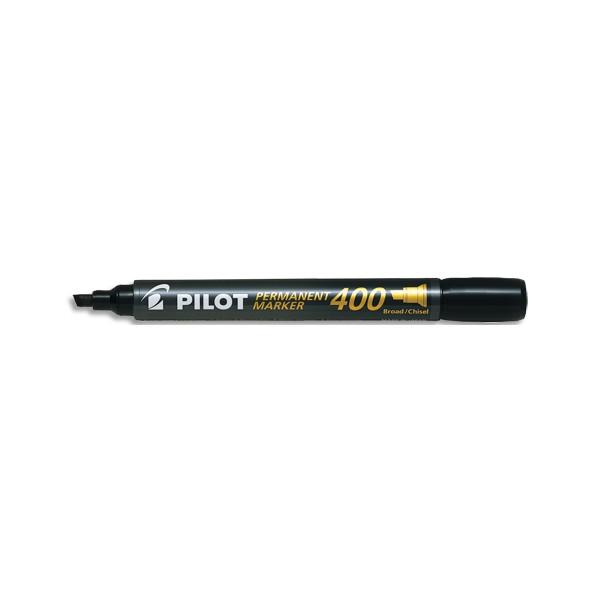 PILOT Marqueur permanent MARKER 400 pointe biseautée large encre noire
