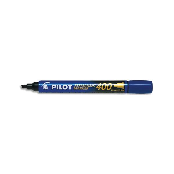 PILOT Marqueur permanent MARKER 400 pointe biseautée large encre bleue