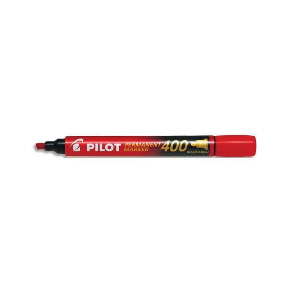 PILOT Marqueur permanent MARKER 400 pointe biseautée large encre rouge
