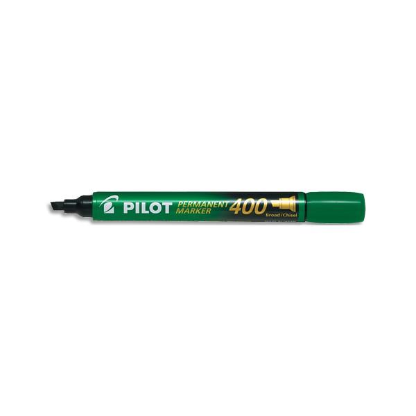 PILOT Marqueur permanent MARKER 400 pointe biseautée large encre verte