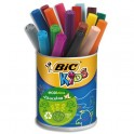 BIC Pot de 18 feutres Visacolor XL Ecolutions couleurs assorties