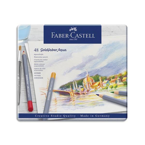 FABER CASTELL Etui de 48 crayons de couleur GOLDFABER aquarellables. Coloris assortis