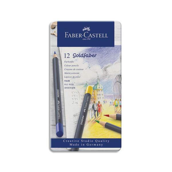 FABER CASTELL Etui de 12 crayons de couleur GOLDFABER. Coloris assortis