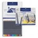 FABER CASTELL Etui de 24 crayons de couleur GOLDFABER. Coloris assortis