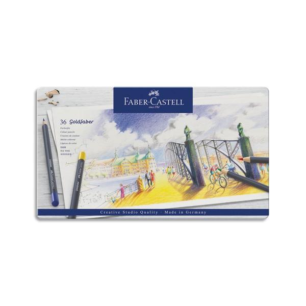 FABER CASTELL Etui de 36 crayons de couleur GOLDFABER. Coloris assortis