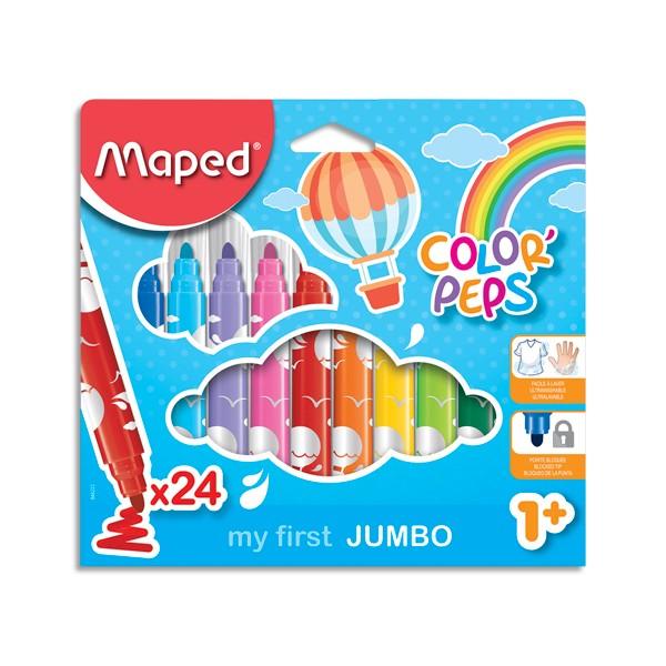 MAPED Pochette carton de 24 feutres JUMBO EARLY AGE