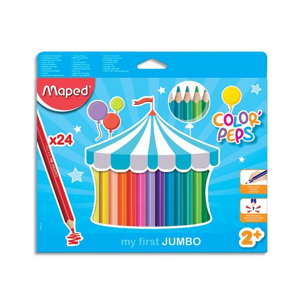MAPED Pochette carton de 24 Crayons de couleur EARLY AGE