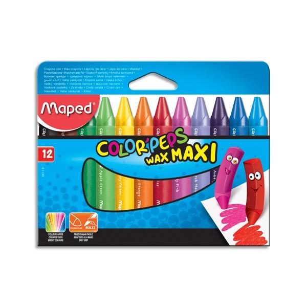 MAPED Pochette de 12 crayons cire WAX EARLY AGE