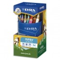 LYRA Pot de 36 crayons de couleur triangulaires mine 6,25 mm Ferby assortis