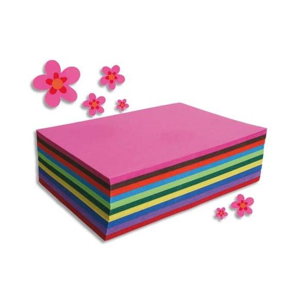 CLAIREFONTAINE Paquet de 250 feuilles Carta format A4 130 g couleurs assorties