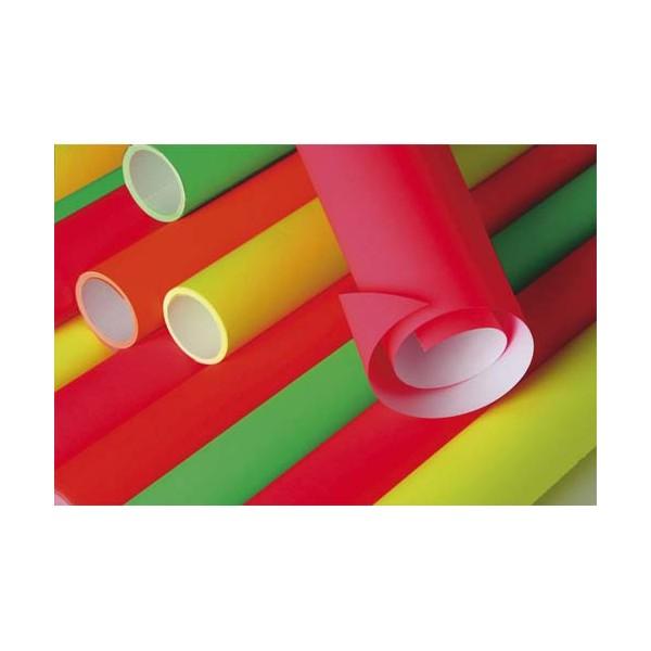 CLAIREFONTAINE Rouleau de 10 feuilles fluo 80g 60 x 80 cm couleurs assorties