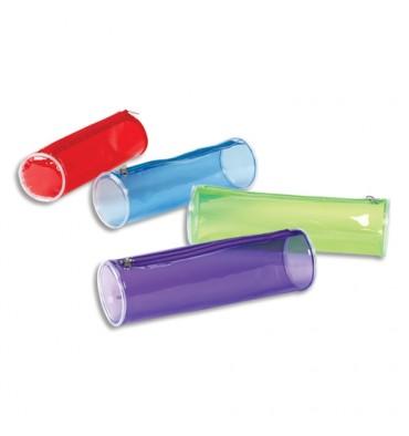 VIQUEL Trousse ronde PROPYGLASS 22 x 7 x 7 cm PVC Assortis transparent rouge, bleu, vert, violet