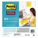 POST-IT Big Notes Super Sticky Post-it jaune, 30 feuilles 27,7 x 27,9 cm