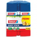 TESA Lot de 3 Bâtons de colle Easy Stick forme triangulaire recyclé 25 g