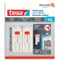 TESA Boîte de 2 Clous adhésifs ajustables pour papier peint et plâtre, charge 1 kg