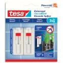 TESA Boîte de 2 Clous adhésifs ajustables pour surfaces lisses, carrelage et métal, charge 3 kg