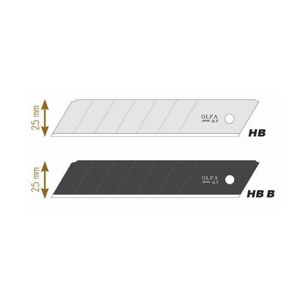 OLFA Recharge de 5 lames HB-5B en acier inoxydable, lame secable, pour cutter XH-1 - Large