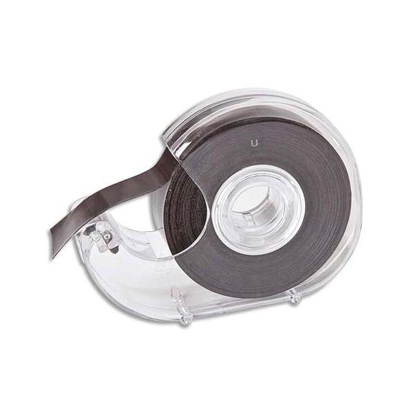 SAFETOOL Dévidoir transparent avec ruban noir à bande magnétique et adhésive 19 mm x 7