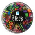 SAFETOOL Kit de petites fournitures assortis Fun : élastique, punaise, trombone, push pins, pince double