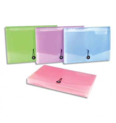 VIQUEL Trieur ménager 6 cmpts Propysoft PP6,5/10 translucide poudré.Coloris assortis rose/mauve/bleu/vert