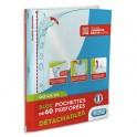 ELBA Bloc cahier de 60 pochettes perforées Quick' In en polypropylène 5/100e lisse incolore, format A4