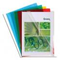 EXACOMPTA Sachet de 50 pochettes coin en PVC 13/100e, coloris assortis