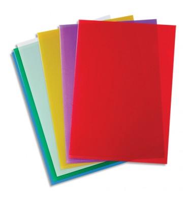 ELBA Sachet 10 pochettes coin polypropylène lisse 12/100e, coloris assortis