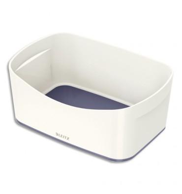 LEITZ Bac de rangement MYBOX sans couvercle en ABS. Coloris blanc fond gris