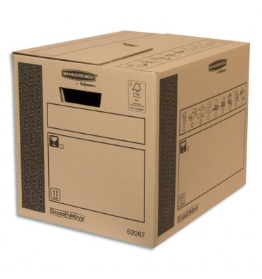 BANKERS BOX Caisse multi-usage 32 x 32 x 40 cm montage auto 100% recyclé et recyclable