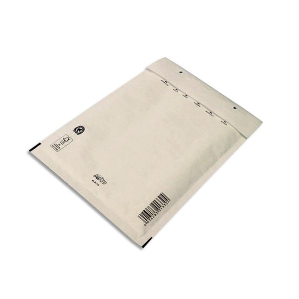 AIRPRO Boîte de 100 pochettes à bulles d'air en Kraft blanc auto-adhésive 170 x 225 mm