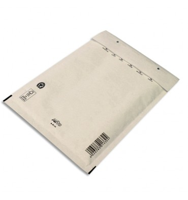 AIRPRO Paquet de 10 pochettes à bulles d'air en Kraft blanc, fermeture auto-adhésive 170 x 225 mm